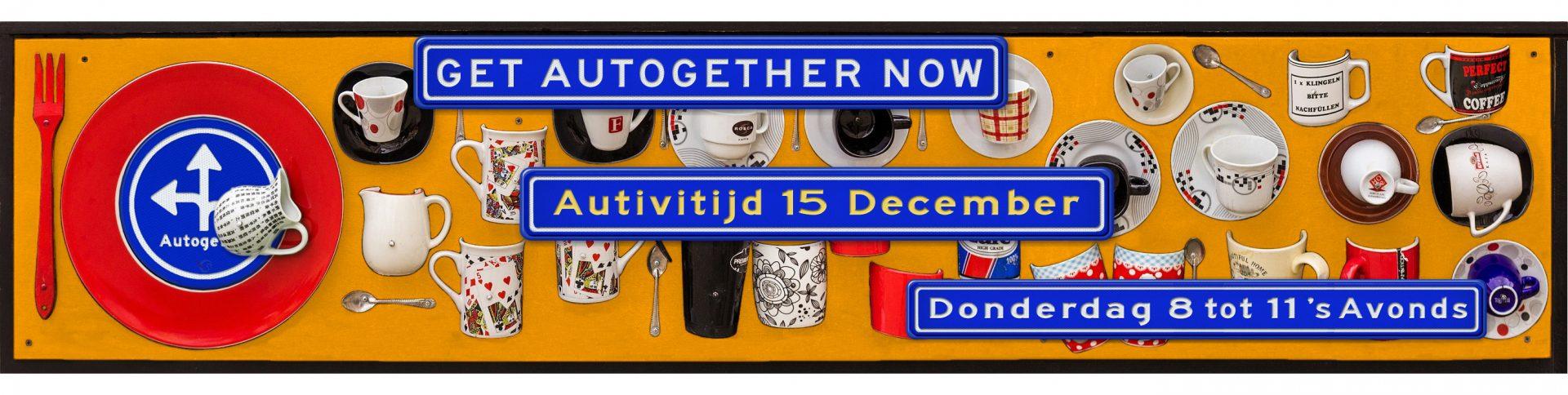 Donderdag 15 December van 20:00 tot 23:00 is het weer Autogether in de Tapijn