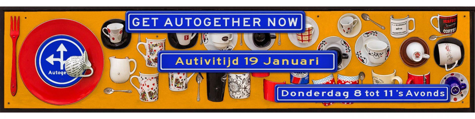 Donderdag 19 Januari van 20:00 tot 23:00 is het weer Autogether in de Tapijn